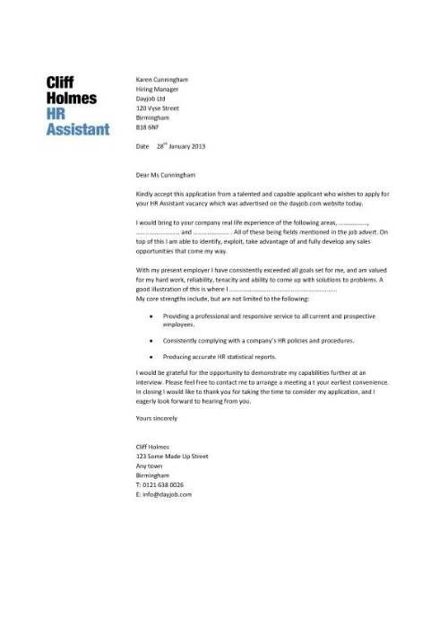 Human Resources Associate Cover Letter