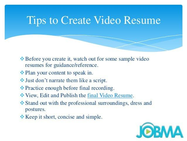 Video Resume Examples | berathen.Com