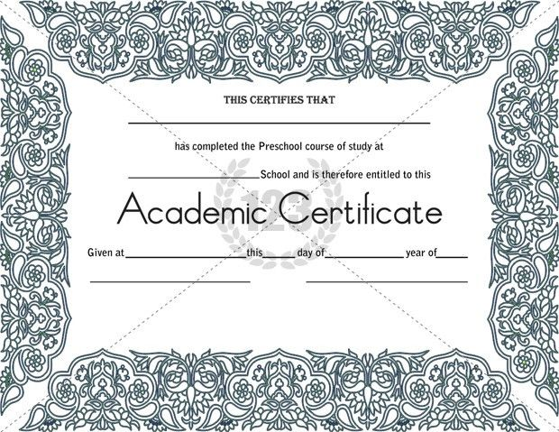 Most Worthy Academic Certificate Templates - 123Certificate ...