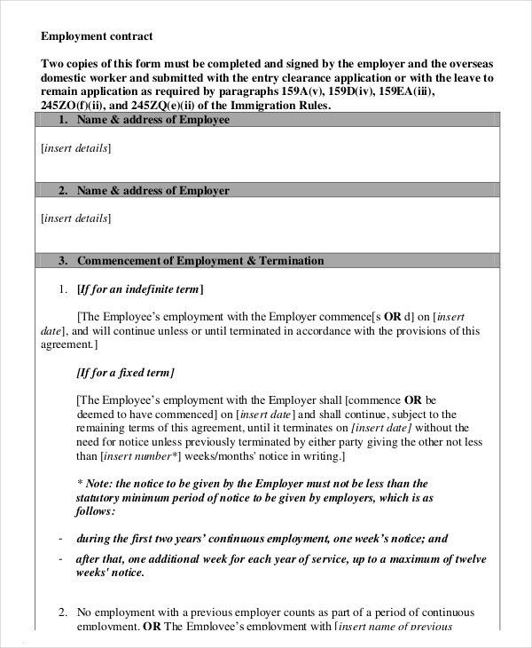 Terminate Workplace Contracts Samples. Picture Employment ...