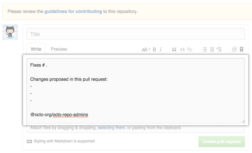 Creating a pull request template for your repository - User ...