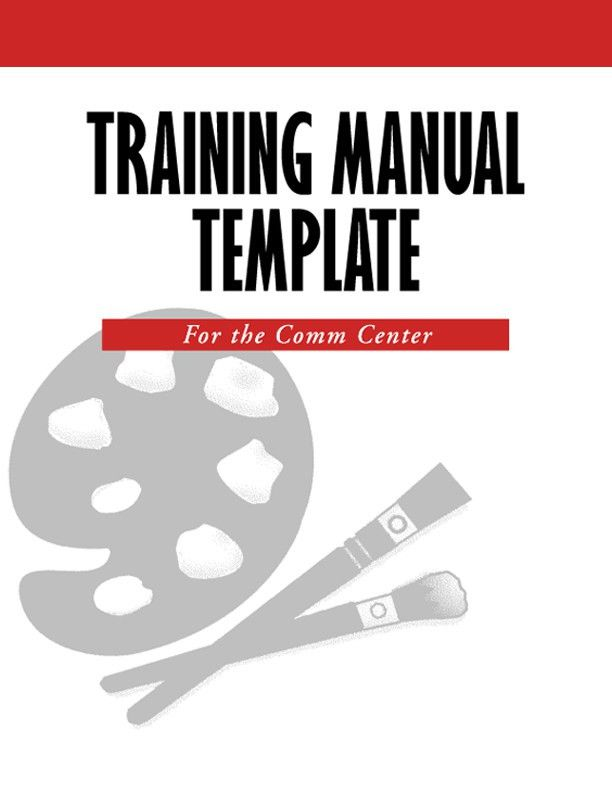Sample Training Manual Template Sample Training Manual 10 – Free Training Manual Template