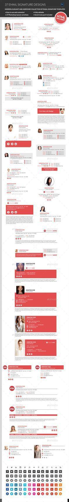 Email Signature | Professional email signature, Email signatures ...