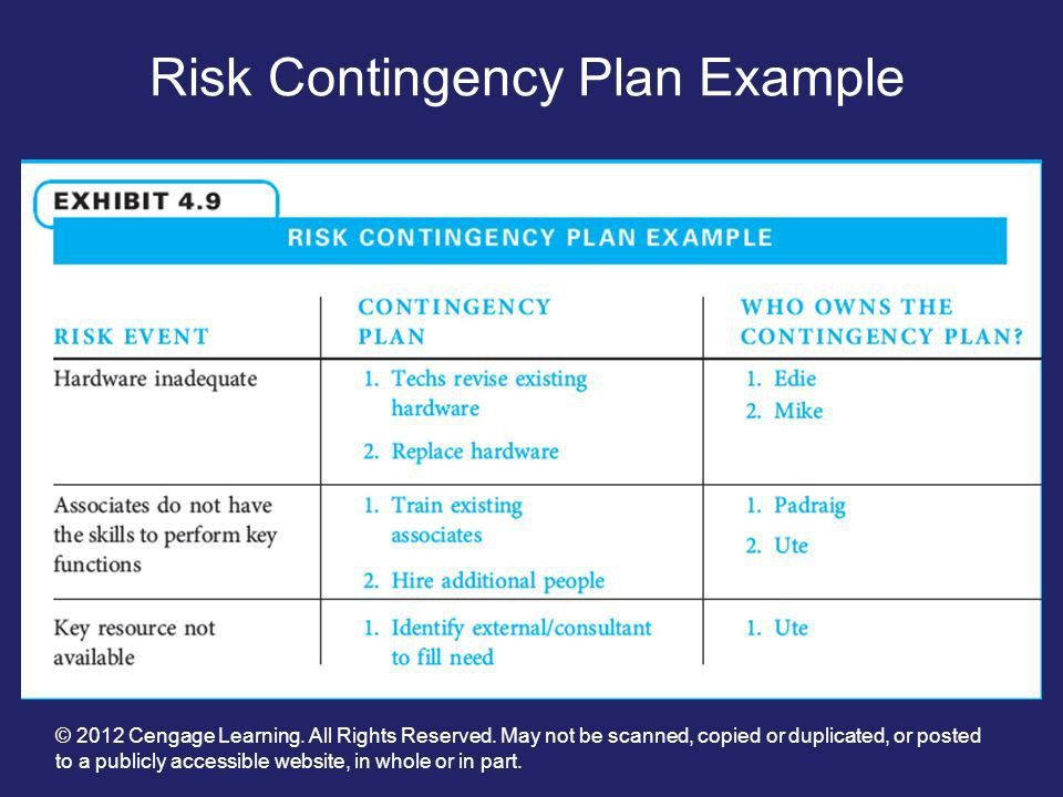 It Contingency Plan Example [Template.billybullock.us ]