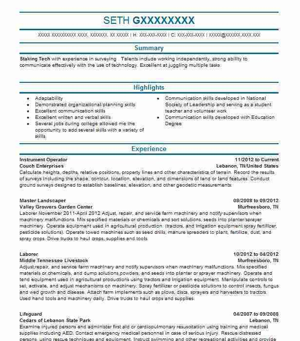 Best Landscaping Resume Example | LiveCareer