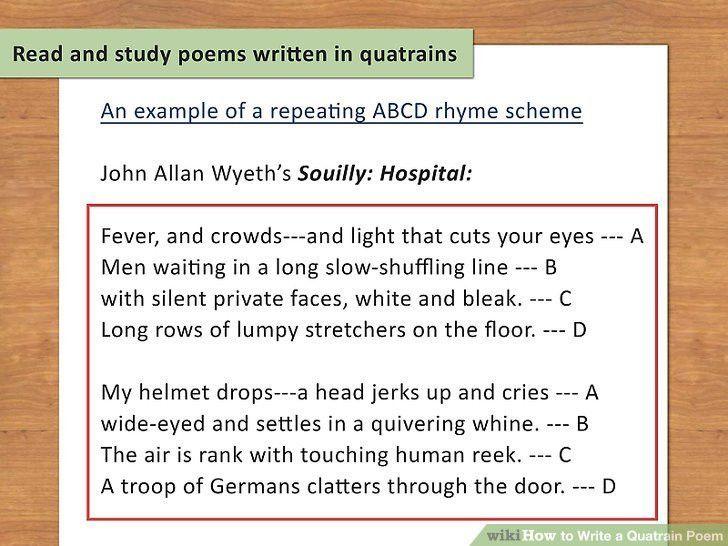 How to Write a Quatrain Poem (with Sample Quatrains) - wikiHow