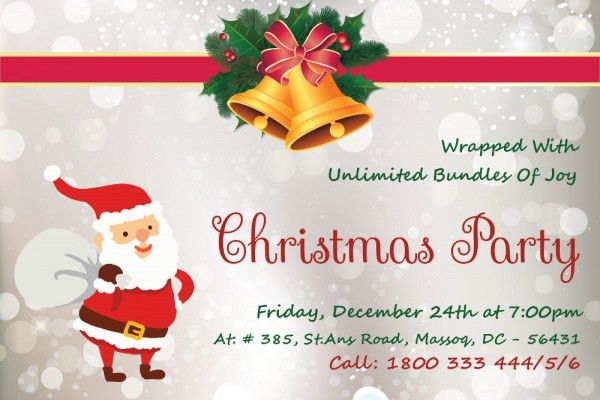 Free PSD Christmas Invitation Card Designs | FreeCreatives