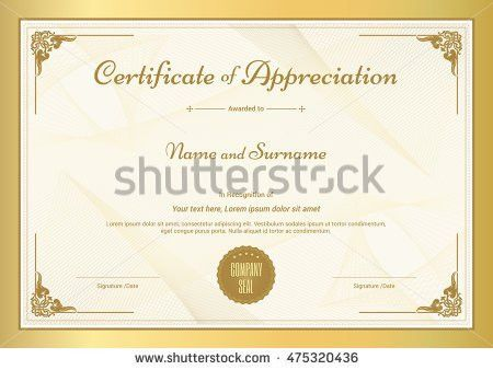 Certificate Vector Template - Download Free Vector Art, Stock ...
