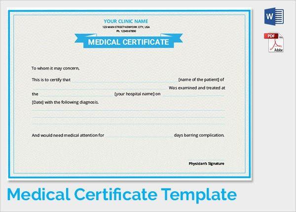 Doc.#587741: Sample Medical Certificate Format – 6 Free Medical ...
