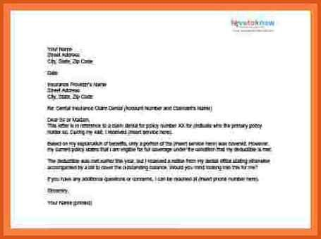 insurance appeal letter | general resumes