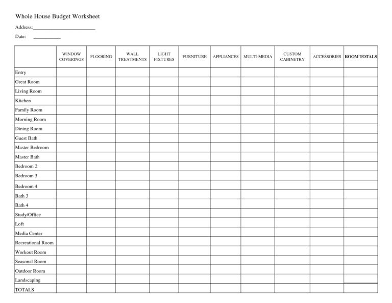 Household Budget Worksheet Template. household budget planner free ...
