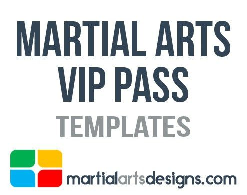 Arts VIP Pass Templates