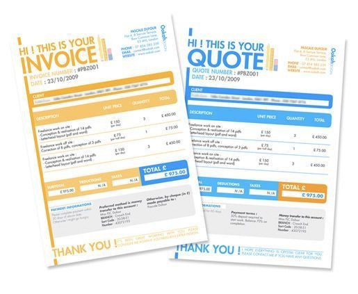 12 best Invoice/Quote Layouts images on Pinterest | Invoice design ...