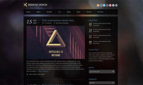 Zeences Dark – Free HTML Template | Free HTML | Pinterest | Free ...