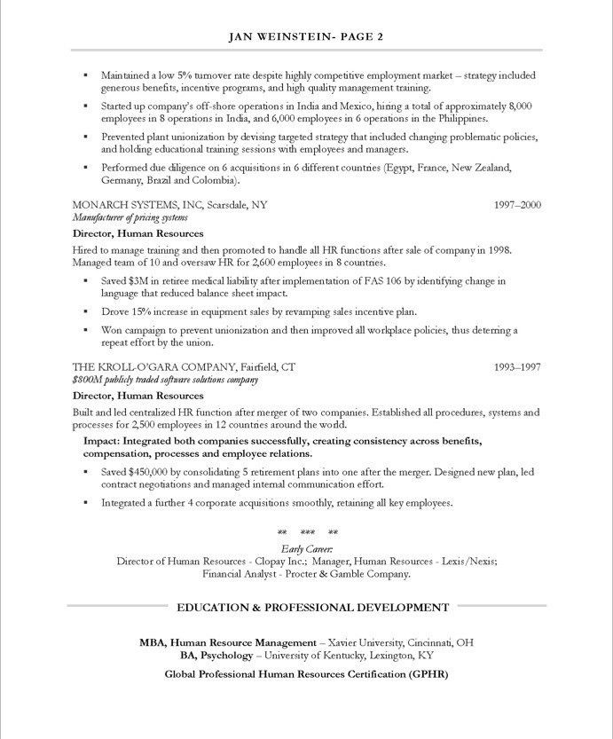 HR Director Resume Samples & Examples