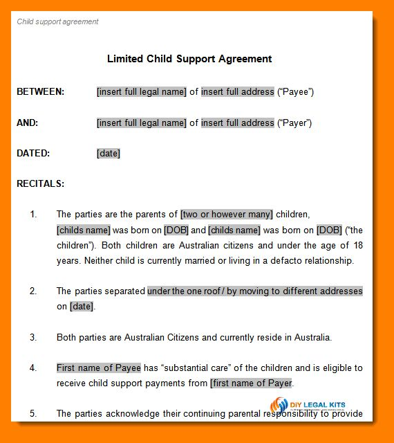 5+ child support agreement template | doctors signature