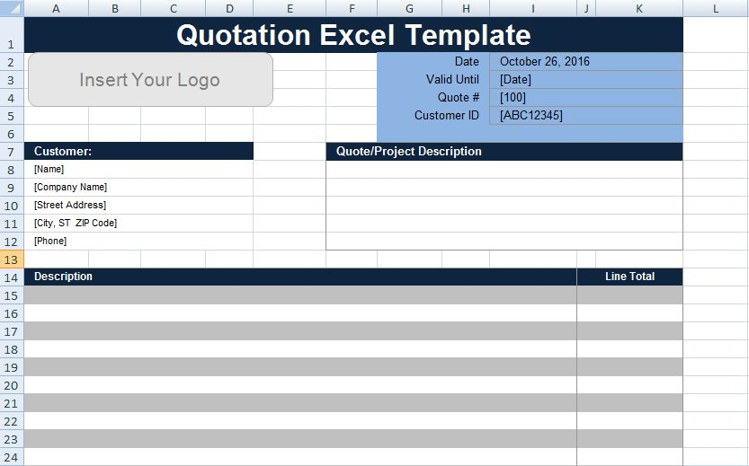Free Quotation Template Excel UK - Project Management Templates ...