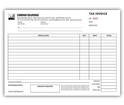 Online bill book printing, Upload or use free bill book designs to ...