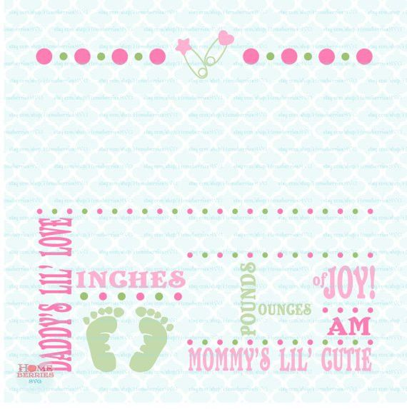 Birth Announcement Template svg Birth svg Baby svg