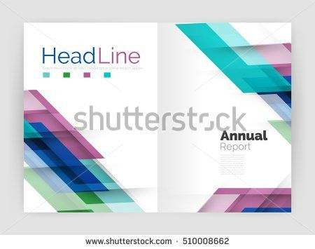 Motion Concept Business Annual Report Cover Stock Vector 498334297 ...