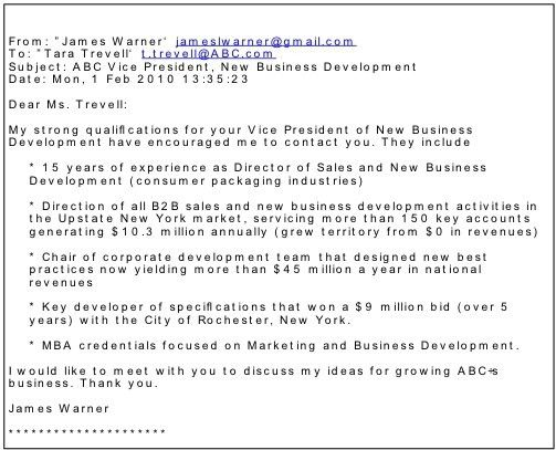 Cover Letter Email Format | Template Design
