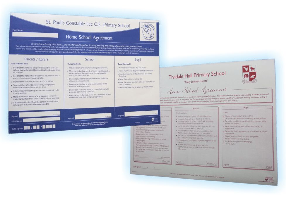 Home School Agreement Forms Templates