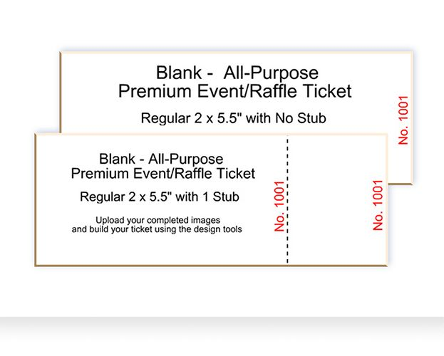 Blank Ticket Templates - Best Ticket Printing