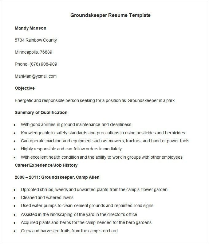 Agriculture Resume Template – 24+ Free Samples, Examples, Format ...