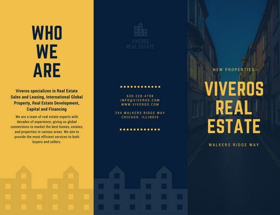 Yellow Blue Real Estate Marketing Brochure | Emergency ...