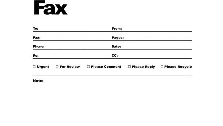 Sample Professional Fax Cover Sheet Template. Fax Cover Sheet ...