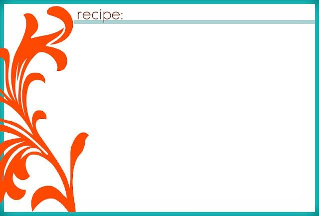 blank recipe cards to include with invites Recipe cards | Misc ...