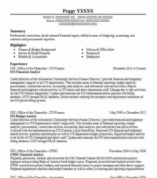Best Financial Analyst Resume Example | LiveCareer