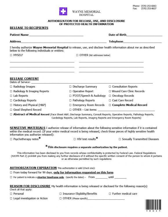 Personal information release form - formats.csat.co