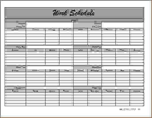 6+ monthly employee schedule template | Procedure Template Sample