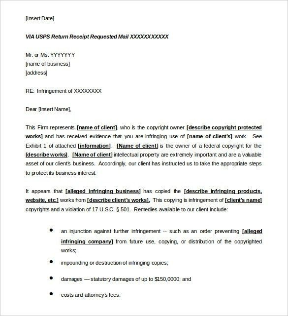 Cease And Desist Letter Sample | The Best Letter Sample