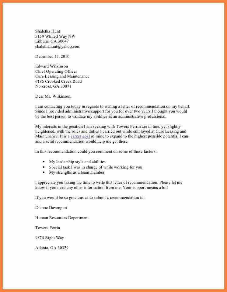 Recommendation Request Letter. Far Eastern University Nicanor ...