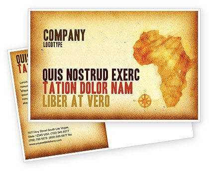 Africa Postcard Template in Microsoft Word, Adobe InDesign, 04877 ...