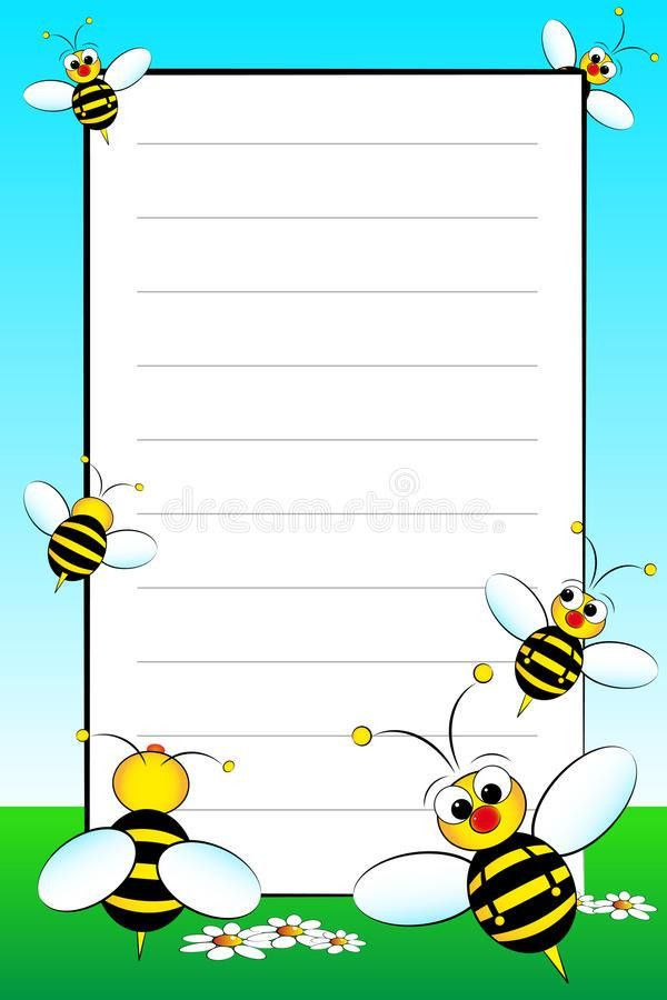 Kid Notebook With Blank Lined Page Stock Photo - Image: 9641330