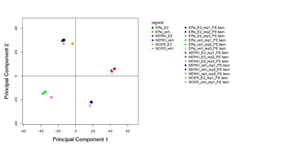 Genomatix - Principal Component Analysis for RNASeq Data