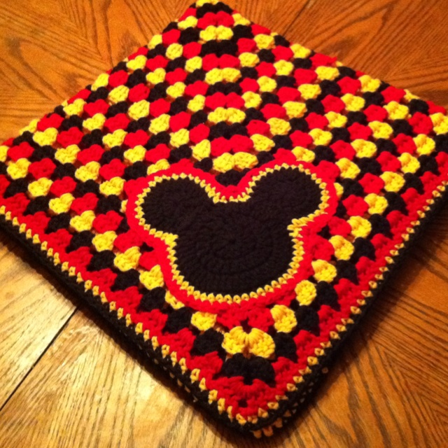 Mickey mouse blanket, Crochet mickey mouse and Mickey mouse on Pinterest