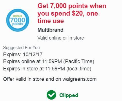 WALGREENS SHOPPING SCENARIOS