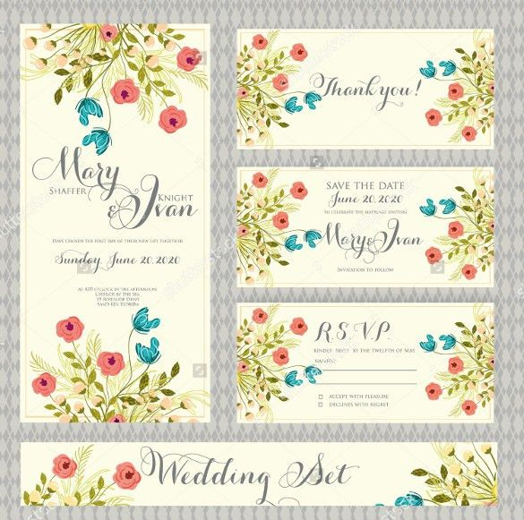 Wedding Card Template - 91+ Free Printable Word, PDF, PSD, EPS ...