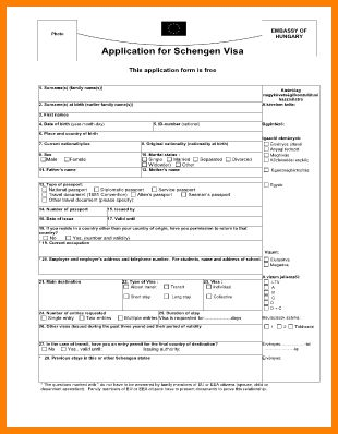 5+ schengen visa application forms | agile resume