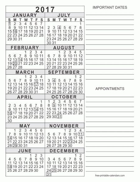 2017 Calendar Templates - Free Printable Calendars