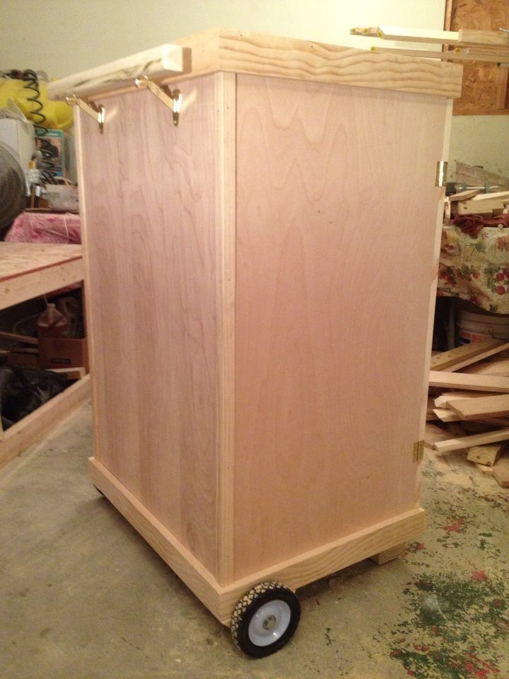 Mobile tack trunk rear for Tack cabinet plans