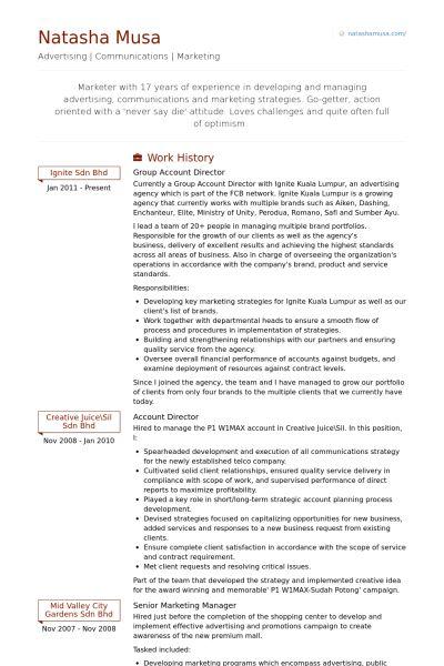 creative director resume samples creative director resume samples