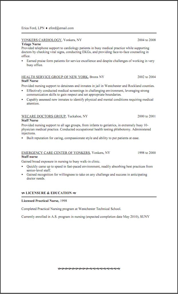 Resume Examples Templates: Great 10 LPN Resume Template Free ...