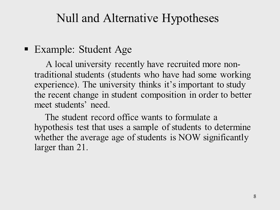 1 Chapter 9 Hypothesis Testing. 2 Chapter Outline  Developing ...