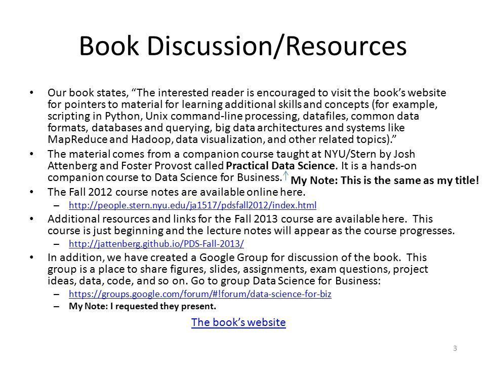 Data Science for Business: Book Review Tutorial - ppt download