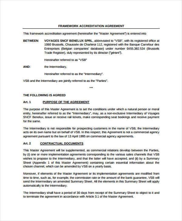 Framework Agreement Templates - 10+ Free PDF Format Download ...